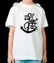 Детская футболка  Ван пис якорь (1 color)