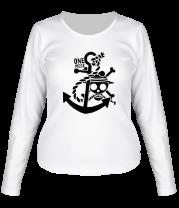 Женская футболка с длинным рукавом Ван пис якорь (1 color)
