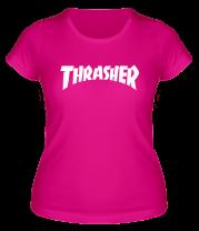Женская футболка   Thrasher skate life