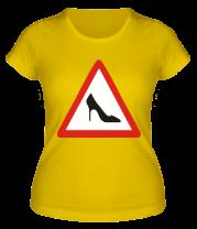 Женская футболка  Женщина за рулём