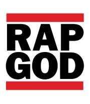 Футболка поло мужская Rap God