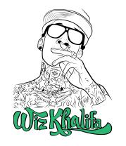 Детская футболка  Wiz Khalifa