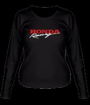 Женская футболка с длинным рукавом Honda Racing