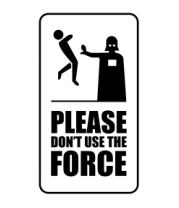 Женская футболка с длинным рукавом Пожалуйста, не используйте силу