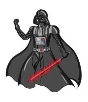 Женская футболка с длинным рукавом Darth Vader red laser pedang