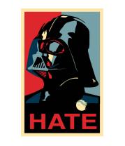 Женская майка борцовка Darth Vader hate