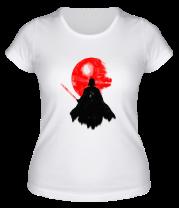 Женская футболка  Dark   Darth vader, Watercolour