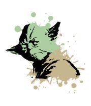 Женская футболка  Yoda