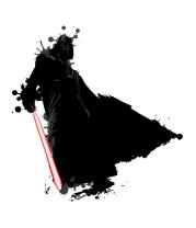 Женская футболка  Darth Vader blots
