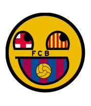 Женская футболка с длинным рукавом Барселона смайл