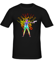 Мужская футболка  Ghost in the machine color
