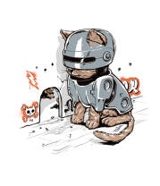 Детская футболка  Робокот
