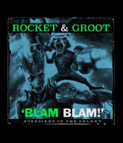 Женская футболка с длинным рукавом Ракета и Грут