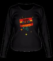 Женская футболка с длинным рукавом Кассета - Стражи галактики
