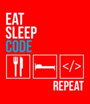 Детская футболка  Ем, сплю, программирую, повтор.