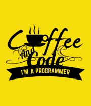 Детская футболка  Кофе и код. Я программист.