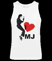 Мужская майка I Love Michael Jackson