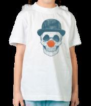 Детская футболка  Череп клоуна