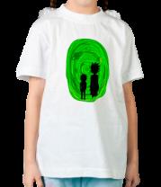 Детская футболка  Рик и Морти в портале