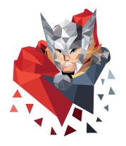 Женская футболка с длинным рукавом Polygon Thor