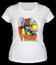 Женская футболка  Thor Springs Into Action