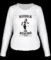 Женская футболка с длинным рукавом Box Team