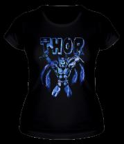 Женская футболка  Электрический Thor