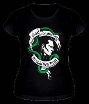 Женская футболка  Бог хитрости