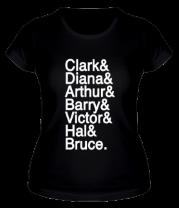 Женская футболка  Имена героев