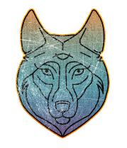 Детская футболка  Винтажный зимний волк