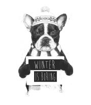 Детская футболка  Зима-это скучно