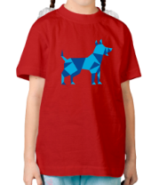 Детская футболка  Абстрактная собака