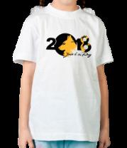Детская футболка  2018 года собаки