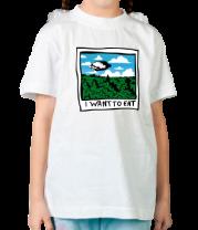 Детская футболка  I want to eat