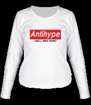 Женская футболка с длинным рукавом Antihype i ball was rawt