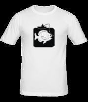 Мужская футболка  Рыбак и большая рыба