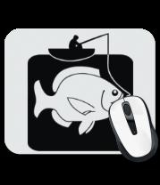 Коврик для мыши Рыбак и большая рыба