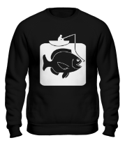 Толстовка без капюшона Рыбак и большая рыба