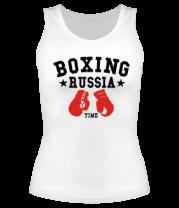 Женская майка борцовка Boxing Russia