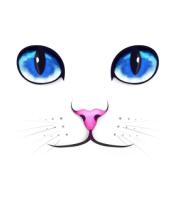 Мужская футболка с длинным рукавом Кошачьи глаза