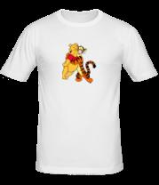 Мужская футболка  Винни Пух и Тигра