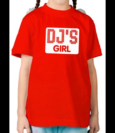 Детская футболка  Dj's Girl