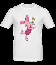 Мужская футболка  Пятачок