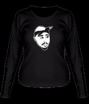 Женская футболка с длинным рукавом 2pac