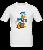 Мужская футболка  Дональд Дак барабанит