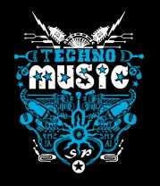 Толстовка Techno Music