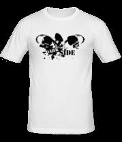 Мужская футболка  Dark Side черепа