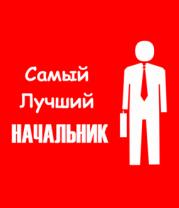 Мужская футболка  Cамый лучший начальник