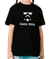 Детская футболка  Dark side pixels