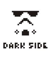 Футболка поло мужская Dark side pixels